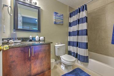 Modern bathroom furnishings.