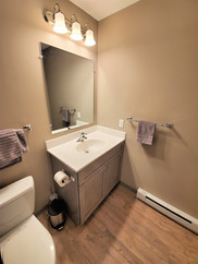Even the half bathrooms have a lot of space within our State College student housing!