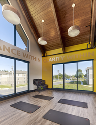 Yoga Room with Mirror Gym