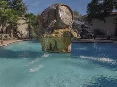 Barrel Sculpture Pool Fountain