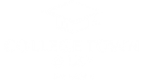College Town @ USF Logo in White