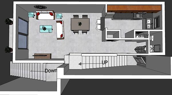 Two Bedroom 2.5 Bathroom Apartment Floor 1