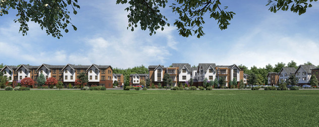 Panoramic View of Outside the Rail Yard Student Housing