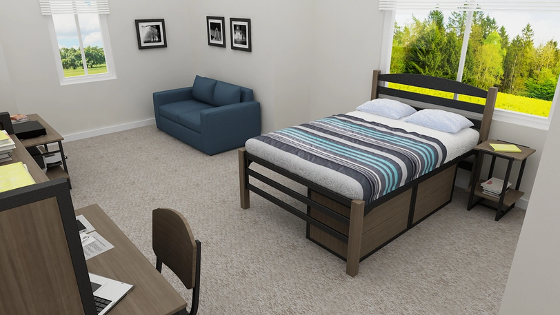 The Norfolk Bedroom and Living Room Spac