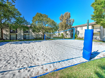 Sand filled volleyball court!