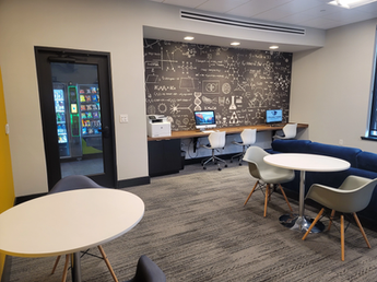 Student Business Lounge with Printing Station