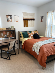 Each Bedroom is Furnished with a Full-Sized Bed.
