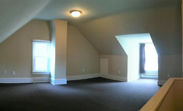 Modern interior with hardwood flooring