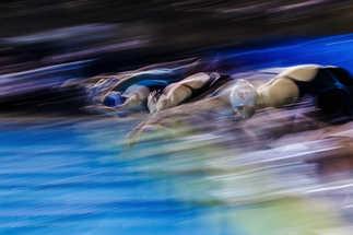 Flou artistique plongeon natation
