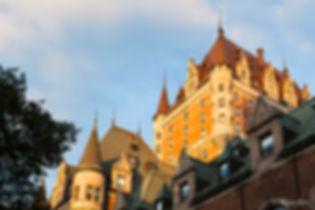 Chateau Frontenac au coucher de soleil ville de Québec