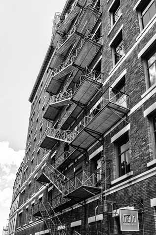 Escaliers de secour - Vieux Québec