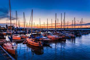 Port de plaisance au coucher du Soleil - Sorel-Tracy