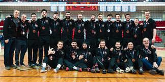 Médaille de bronze Rouge et Or ULaval - Championnat Nationnal U Sports Volleyball Masculin - PEPS Québec