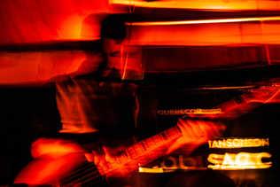 Flou artistique musicien guitare
