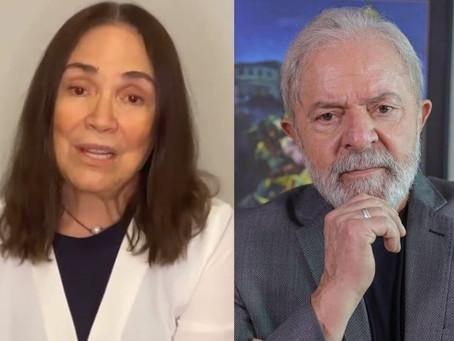 Regina Duarte é condenada e terá que se retratar após divulgar fake news sobre Marisa Letícia