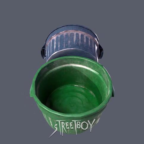 Street Boy Plastic Bin
