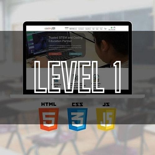 Web Programming  (HTML / CSS / JavaScript) (Level 1)