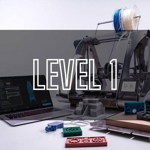 Tinkercad Lvl 1: Master 3D Print Design Skills