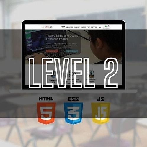 Web Programming  (HTML / CSS / JavaScript) (Level 2)