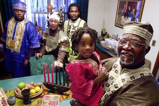 Kwanzaa-family-with-grandfather