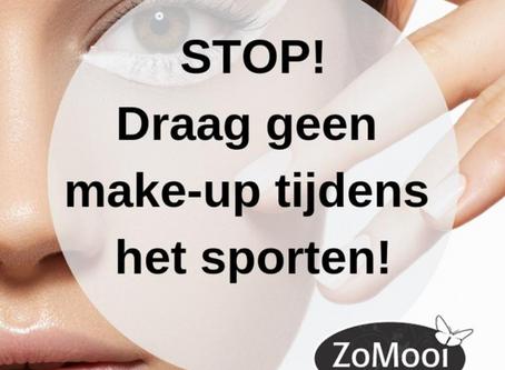 Stop! Draag geen Make-up tijdens het sporten!