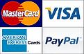 mastercard, visa, paypal, american express logos