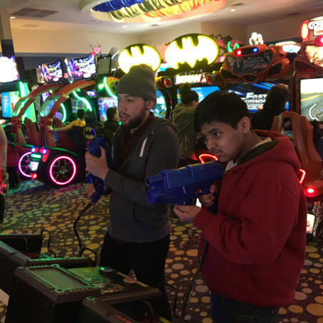 Liandro was able to play all his favorite arcade games