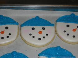 Turquoise Snowman Face