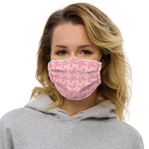 Pink Butterfly Premium face mask