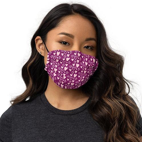 Heart Premium face mask
