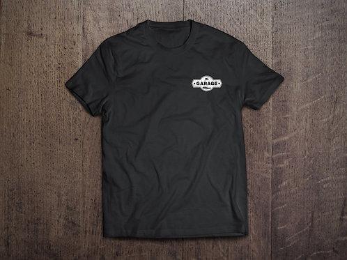 T-Shirt nera logo bianco