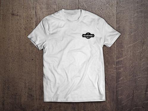 T-Shirt bianca logo nero