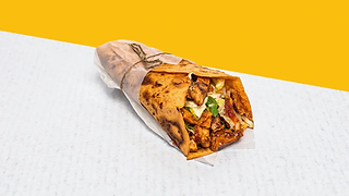 Wrap with grilled chicken brests wrapped in paper