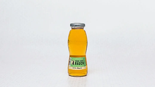 Bottle of fruit juice with apple flavour