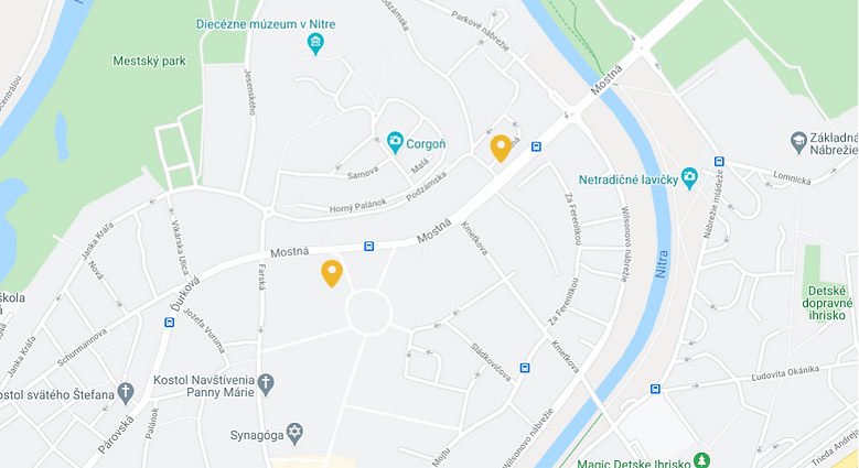 Restaurants pinned on a local map