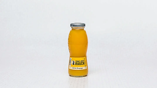 Bottle od fruit juice with orange flavour
