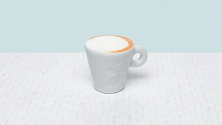 Cup of espresso machiato coffe
