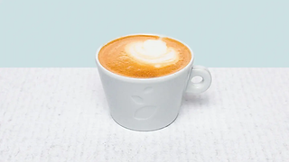 Cup of flat white coffe