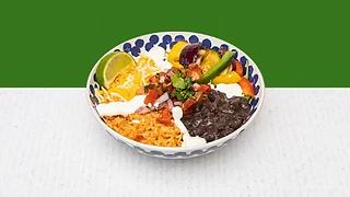 Vegeratian burrito bowl