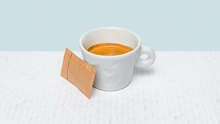 Cup of espresso lungo coffe