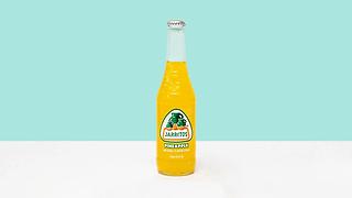 Bottle of grapefruit flavoured soda