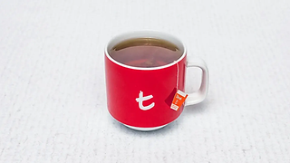 Red cup of tea