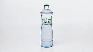 Bottle of gently sparkling water