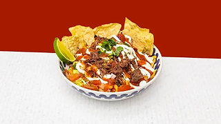 Beef salad in a bowl
