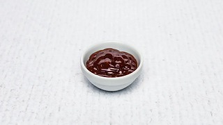 Small bowl of barbecue sauce