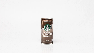 Brown can of coffe
