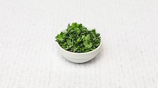 Small bowl of cilantro