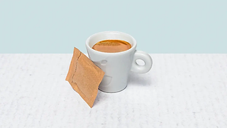 Cup of espresso coffe