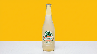 Bottle of lime flavoured soda