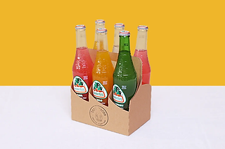 6-pack of multiple flavoured soda